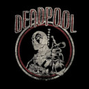 Marvel Deadpool Vintage Circle Men's T-Shirt - Black