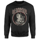 Marvel Deadpool Vintage Circle Sweatshirt - Black