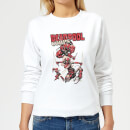 Sweat Femme Deadpool Family Corps Marvel - Blanc