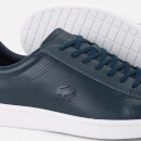 Lacoste Men's Carnaby Evo 318 7 Croc Leather Trainers - Navy