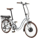 Lectro Folding 7 Speed Electric Power Assisted Bike - Silver