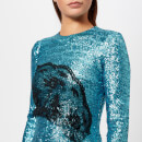 Preen By Thornton Bregazzi Women's Sequin Jersey Lace Dinah Dress - Teal