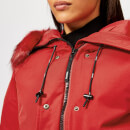 KENZO Women's Technical Short Bomber Coat - Red