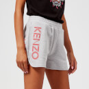 KENZO Women's Light Cotton Molleton Shorts - Light Grey