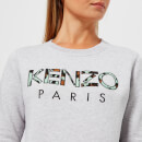 KENZO Women's Light Cotton Molleton Logo Sweatshirt - Grey