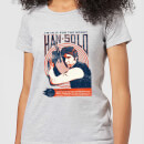 Star Wars Han Solo Retro Poster Women's T-Shirt - Grey