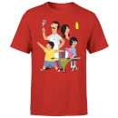 Bobs Burgers Family Pose Men's T-Shirt - Red