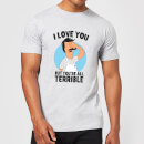 Bobs Burgers I Love You But You're All Terrible Men's T-Shirt - Grey