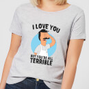 T-Shirt Femme I Love You But You're All Terrible Bob's Burgers - Gris