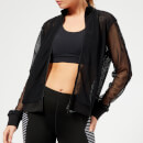 Monreal London Women's Elite Track Jacket - Black Mesh