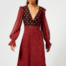 Philosophy di Lorenzo Serafini Women's V Neck William Morris Print Dress - Red/Black