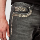 Versace Collection Men's Embellished Denim Jeans - Nero