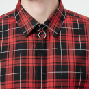 Neil Barrett Men's Tartan Shirt - Black/Red
