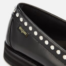 Bass Weejuns Women's Winter Weejun Penny Stud Leather Loafers - Black