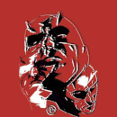 Marvel Knights Daredevil Layered Faces Men's T-Shirt - Red