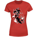 Marvel Knights Daredevil Layered Faces Women's T-Shirt - Red