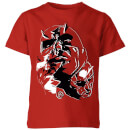 Marvel Knights Daredevil Layered Faces Kids' T-Shirt - Red