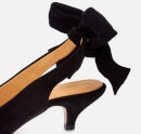 Ganni Women's Bow Kitten Heels - Black