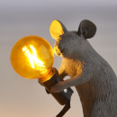 Seletti Sitting Mouse Lamp - Grey