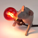 Seletti Lying Mouse Lamp - Grey