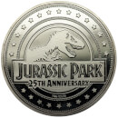 Jurassic Park 'T-Rex' Limited Edition Coin - Silver Variant