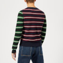 JW Anderson Men's Logo Patch Stripe Jumper - Navy