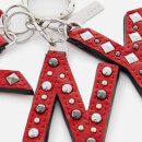 DKNY Women's Leather Key Fob with Studs - Rouge