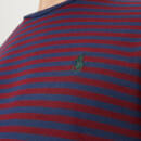 Polo Ralph Lauren Men's Basic Stripe Crew Neck Short Sleeve T-Shirt - Newport Navy/Classic Wine