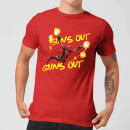 Camiseta Marvel Deadpool Suns Out Guns Out - Hombre - Rojo
