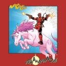 Marvel Deadpool Unicorn Battle Men's T-Shirt - Red