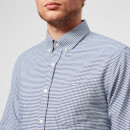 Officine Générale Men's Antime Button Down Oxford Gingham Shirt - Navy White