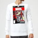 Marvel Deadpool Action Figure Sweatshirt - White
