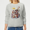 Sweat Femme Deadpool Veut des Royalties Marvel - Gris