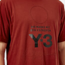 Y-3 Men's Stacked Logo Short Sleeve T-Shirt - Rust Red