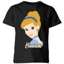 Disney Princess Colour Silhouette Cinderella Kids' T-Shirt - Black