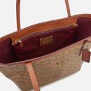 4550e010 Coach Women's Coated Canvas Signature Market Tote Bag - Tan Rust
