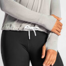 IdealFit Long Sleeve Keyhole Top - Grey