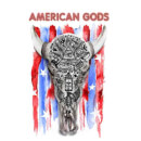 American Gods Skull Flag Men's T-Shirt - White