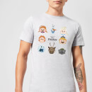 Disney Frozen Emoji Heads Men's T-Shirt - Grey