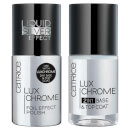 Catrice Cosmetics Luxchrome 2in1 Base & Top Coat / Luxchrome Foil Effect Polish