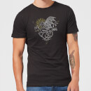 Harry Potter Thestral Line Art Men's T-Shirt - Black