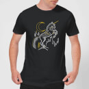 T-Shirt Homme Dessin au Trait Licorne - Harry Potter - Noir