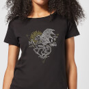 Harry Potter Thestral Line Art Damen T-Shirt - Schwarz