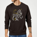 Sweat Homme Dessin au Trait Licorne - Harry Potter - Noir