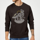Harry Potter Buckbeak Line Art Sweatshirt - Black