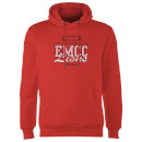 East Mississippi Community College Lions Distressed Hoodie - Red