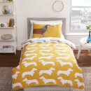 Sausage Dog Duvet Cover Set - Multi