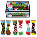 United Oddsocks Men's Fork it Socks Gift Set