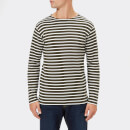 Armor Lux Men's Mariniere Heritage Long Sleeve T-Shirt - Aquilla/Milk