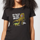 Dinosaur Unicorn Women's T-Shirt - Black